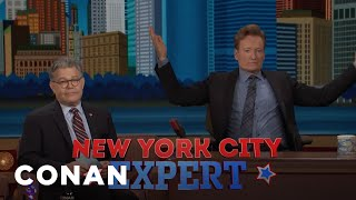 Senator Al Franken Gives Conan The NYC Citizenship Test
