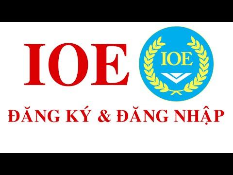 IOE đăng ký thành viên và đăng nhập