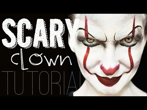 Scary Clown Face Painting Tutorial