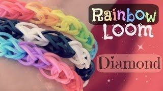 Rainbow Loom : Diamond Bracelet How To One Loom