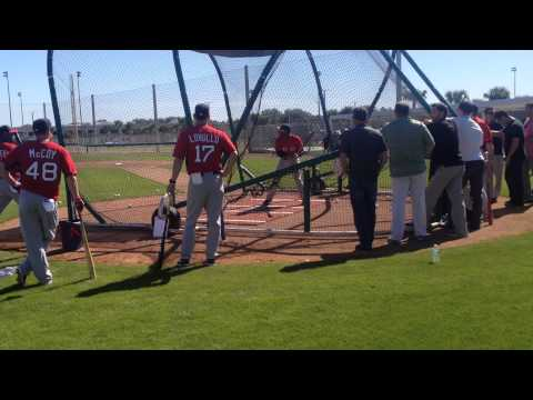 Jackie Bradley Jr. takes swings in Red Sox spring training