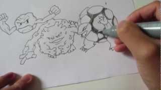 How To Draw Pokemon: No.74 Geodude, No.75 Graveler, No.76
