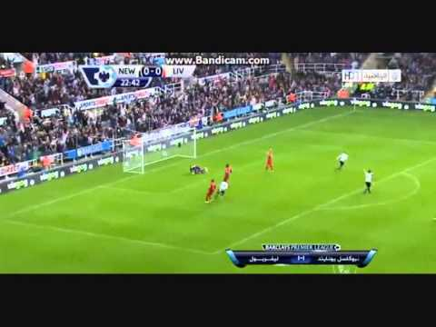 Yohan Cabaye  Super Goal from 40 meters Newcastle vs Liverpool 1:0 19/10/2013