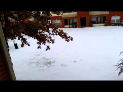 Dallas area 12/5/2013 snow storm...