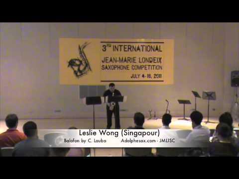 3rd JMLISC: Leslie Wong (Singapour) Balafon C. Lauba