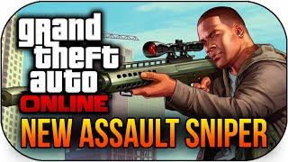 "GTA 5 Online Leaked DLC ""Assault Sniper"" New DLC Weapon"
