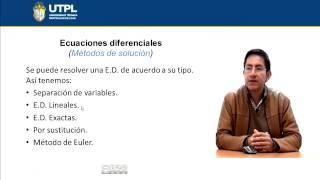 UTPL ECUACIONES DIFERENCIALES [(GESTIÓN AMBIENTAL)(CÁLCULO PARA CIENCIAS BIOLÓGICAS)]
