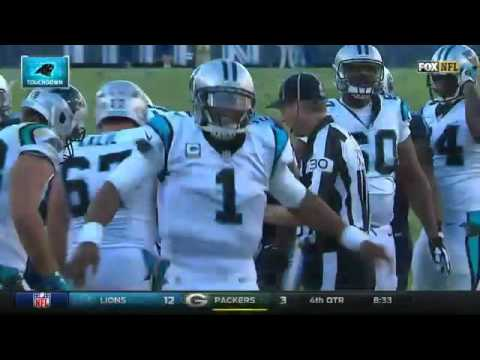 Cam Newton Touchdown Dance Panthers vs Titans