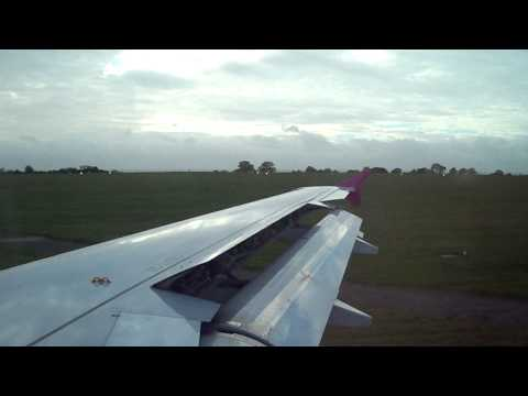 Wizzair Airbus A320 Take Off @ London Luton Airport on 12.11.2010 (FLIGHT W6 502) HD
