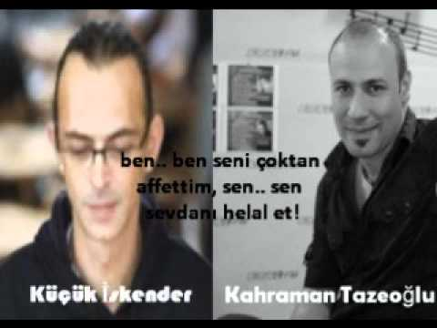 kahraman tazeoğlu sen sevdanı helal et şiiri
