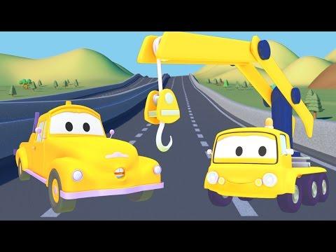 Cần cẩu Và Tom - chiếc xe tải kéo | Phim hoạt hình chủ đề xe hơi và xe tải xây dựng