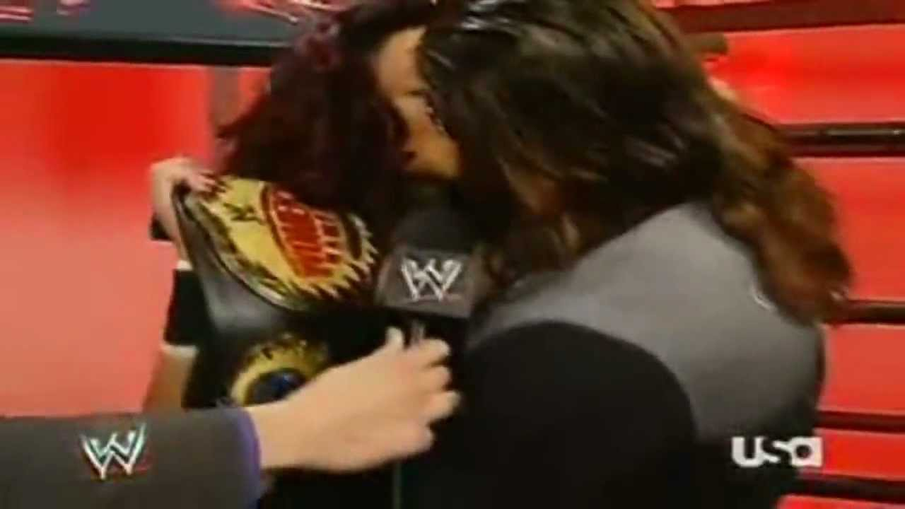 Displaying 20 gt  Images For - Mickie James Kiss Of Death   Wwe John Morrison And Melina Kiss