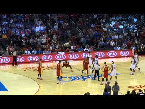 Houston Rockets James Harden, Chandler Parson and Jeremy Lin pregame ritual 110413
