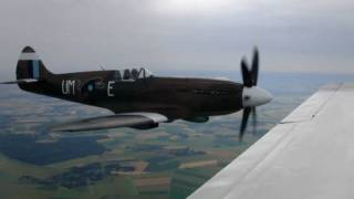 Flightline Spitfire & Take Off. Duxford. July 2010