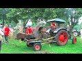 Holz häckseln mit dem Lanz Bulldog - Start, run and wood cutting with historic tractor
