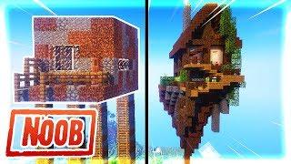 Thăm Nhà NOOB Xây Đảo Trên Trời Trong Minecraft