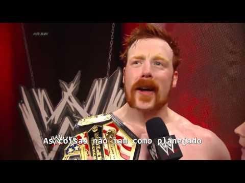 Raw 05/05/2014 - Sheamus celebrates his United States Championship victory  Legendado (PT-BR)