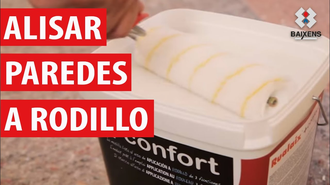 Alisar paredes a rodillo youtube - Productos para quitar gotele ...