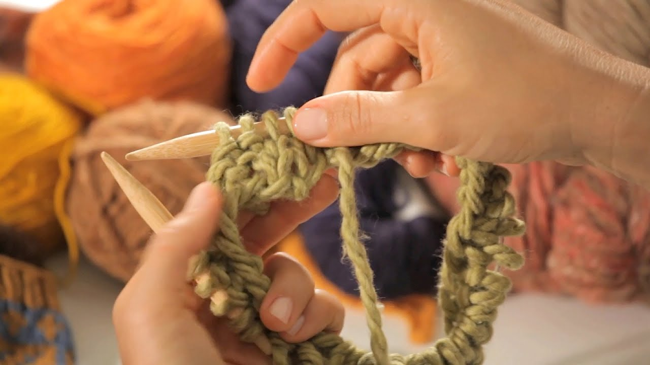 Double Knitting In The Round Youtube : How to do a ribbing in the round circular knitting