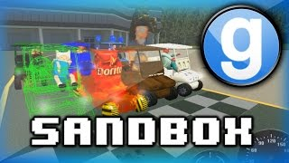 Garry's Mod Sandbox Funny Moments 5 - WILDCAT's Cooking Show, and Golf Cart Race Fun!