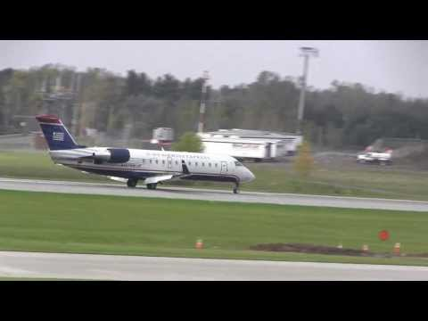 US Airways CRJ-200 landing Greater Rochester International HD #2