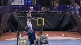 [Million To One: Batter Hits Baseball Back Into Pitching Machine] Video
