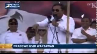 Video Prabowo Marah Dan Usir Wartawan Media Massa, Akibat