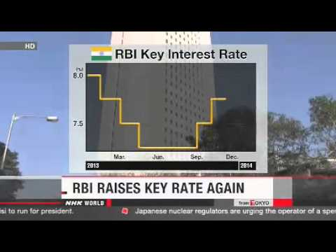 Reserve Bank of India raises key rate to 8%