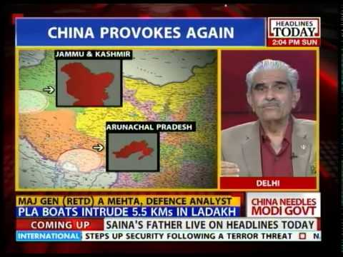 China claims Arunachal and  parts of Jammu & Kashmir