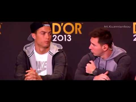 Ronaldo & Messi funny moment at Ballon d'Or press conference