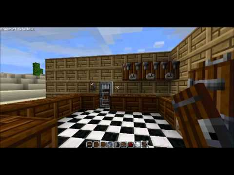 Awesome kitchen design minecraft youtube for Kitchen ideas minecraft