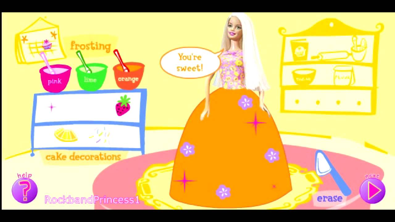 Barbie Cake Decoration Game Free Online Barbie Cake