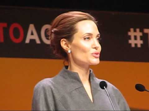 London Press Conference by Angelina Jolie, John Kerry, William Hague
