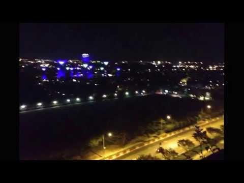View from hotel terrace - Marina Bay Sands - SINGAPORE 2014