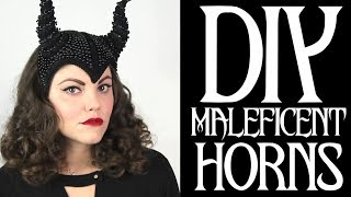 DIY Maleficent Inspired Horns