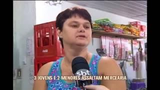 C�mera flagra assalto a farm�cia em Santa Rita de Minas