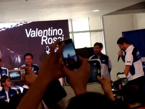 Valentino Rossi for the Yamaha GP 5's opening leg at SM City Sta. Rosa this February 23, 2014