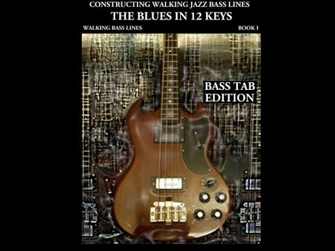 Jazz Bass tab lesson The Blues in C   walking bass line bass tab video lesson  .m4v