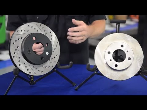 What's the difference between cross drilled, slotted, and vented rotor