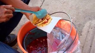 A Local Street Vendor Selling Ceviche - Iguala, Mexico