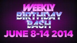 Celebrity Actor Birthdays - June 8-14, 2014 HD