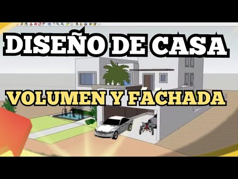 V17 dise ar una casa vol men y fachadas youtube for Programa para disenar casas en 3d