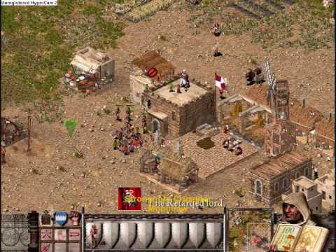Stronghold Crusader Battle Against Wolf, Stronghold Crusader Battle against wolf normal game with high computer starting goods. The start is fast forward since its pretty boring