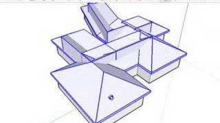 SketchUp: Complex Hip Roofs And The Follow Me Tool