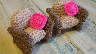 (crochet) How To Crochet A Doll's House Armchair Yarn