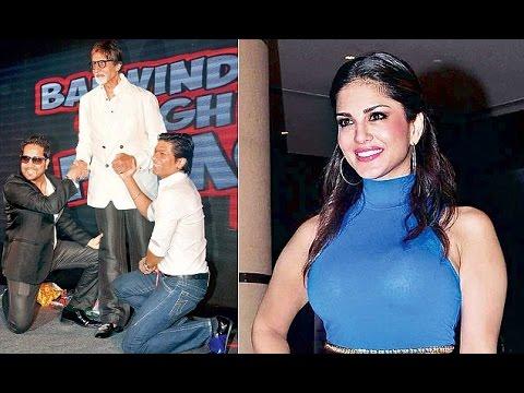 Sunny Leone, Amitabh Bachchan and Mika Singh at 'Balwinder Singh Famous Ho Gaya' Music Launch