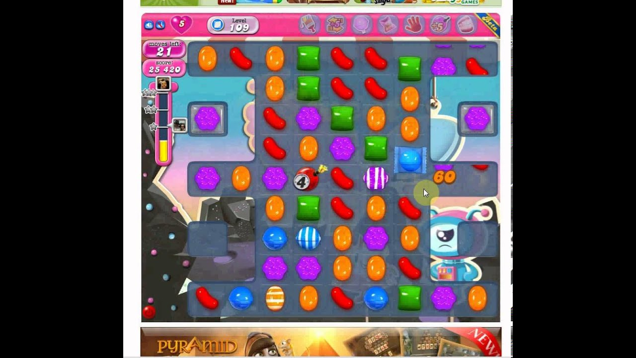 candy crush saga level 109 cheat walkthrough candy crush candy