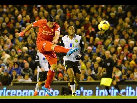 Liverpool 5-1 Norwich / Suarez Scores 4 To Sink Canaries