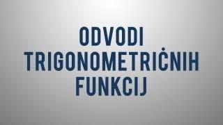 Odvodi trigonometričnih funkcij