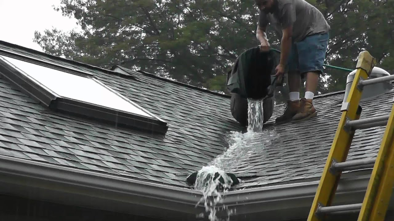 Roof Valley Rain Water Diverter Tests Youtube